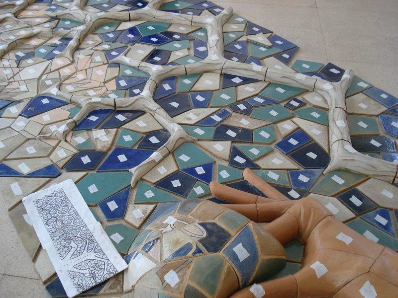 Rbol y tierra proyecto final 2007 cer mica san telmo - Murales de ceramica artistica ...
